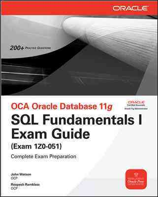 OCA Oracle Database 11g By Watson, John/ Ramklass, Roopesh